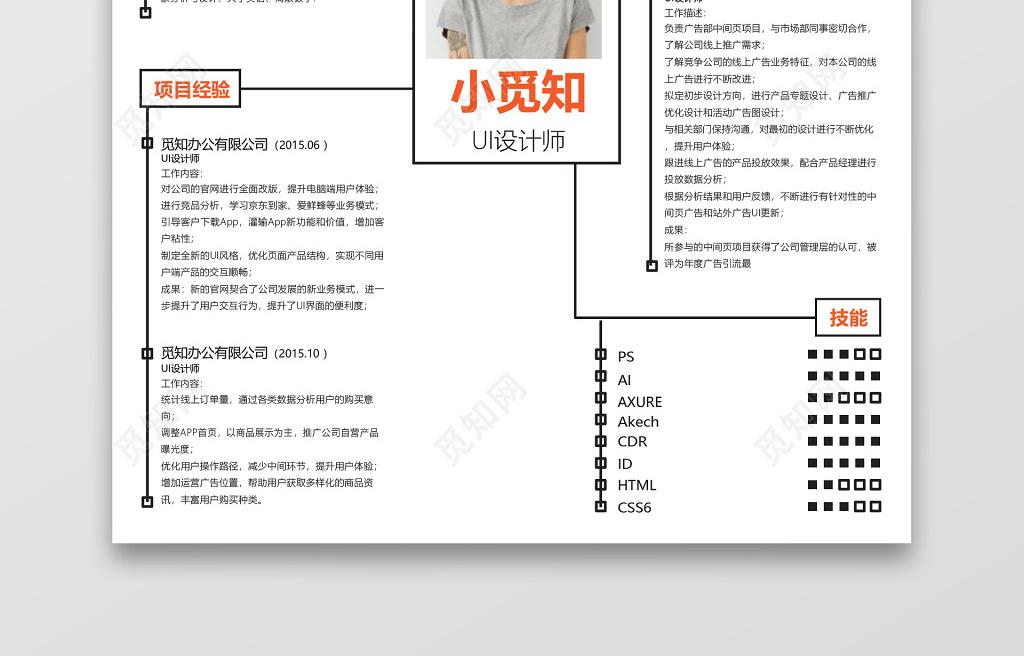 极简创意代码线条设计师UI设计师求职word吗平面设计要图片